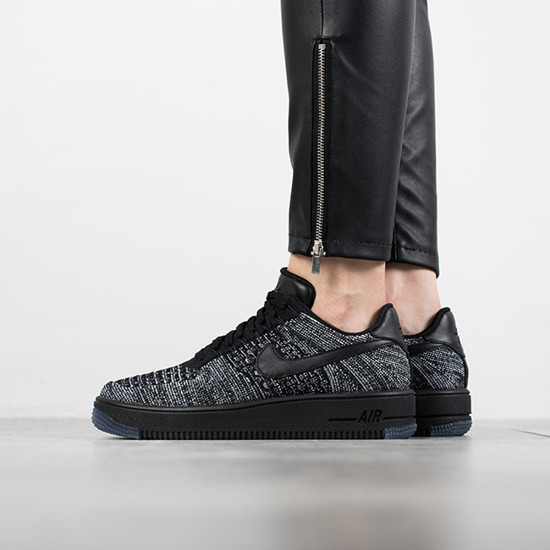 d086d04507411f Femme chaussures sneakers Nike Air Force 1 Flyknit Low 820256 007  -SneakerStudio
