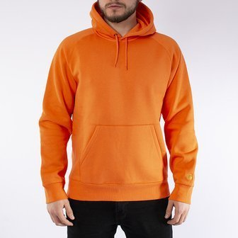 Carhartt WIP Hooded Chase Sweat I026384 CLOCKWORK/GOLD