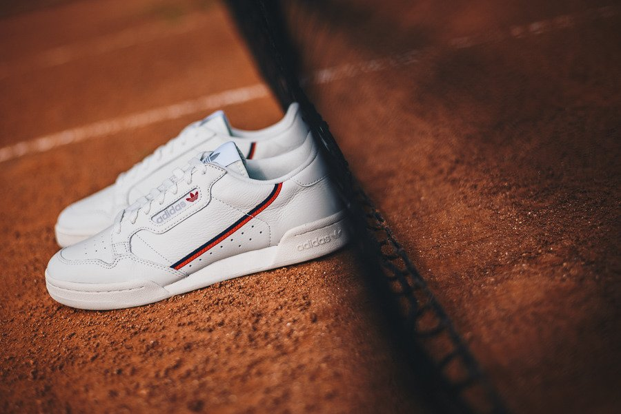 adidas continental 80 femme rouge