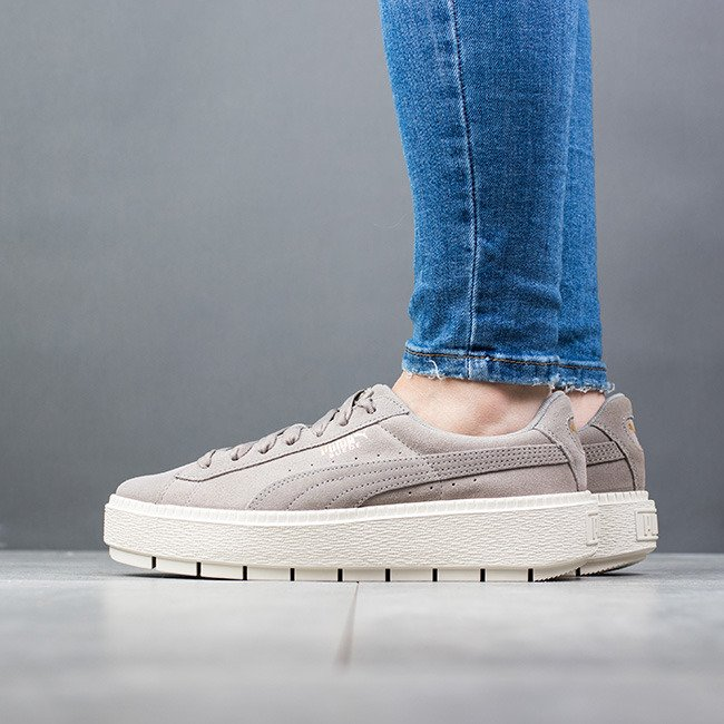 Femme Sneakers Puma Trace Platform Suede Chaussures 365830 06 dwUqvd