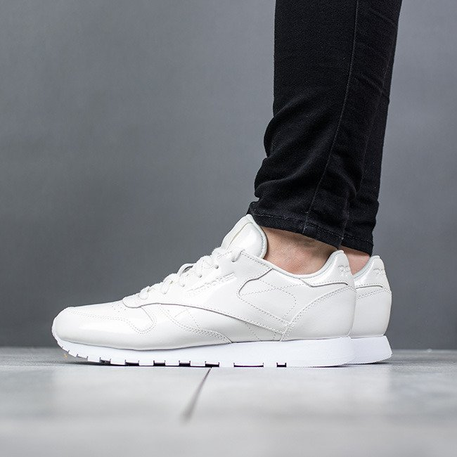 Pearl femme Patent CN0875 Chaussures Reebok Classic Leather sneakers XkOiuPZ
