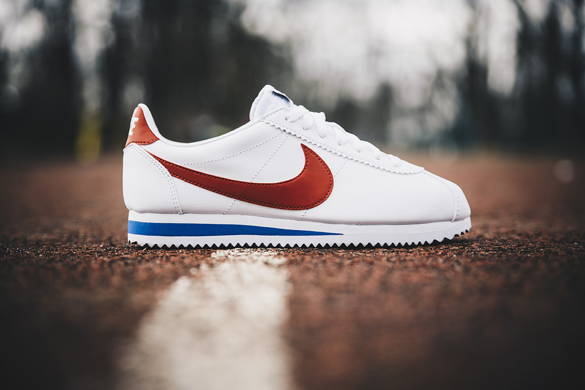 buy online d5034 f6d10 Forrest Classic Sneakers Leather Gump Femme Chaussures Nike Cortez YPnpqO