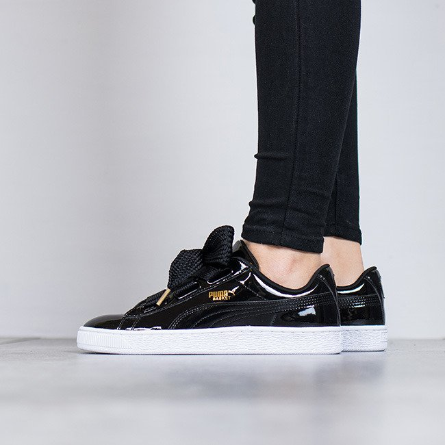Puma Heart 01 Sneakers Femme 363073 Chaussures Patent Basket W2HDIE9