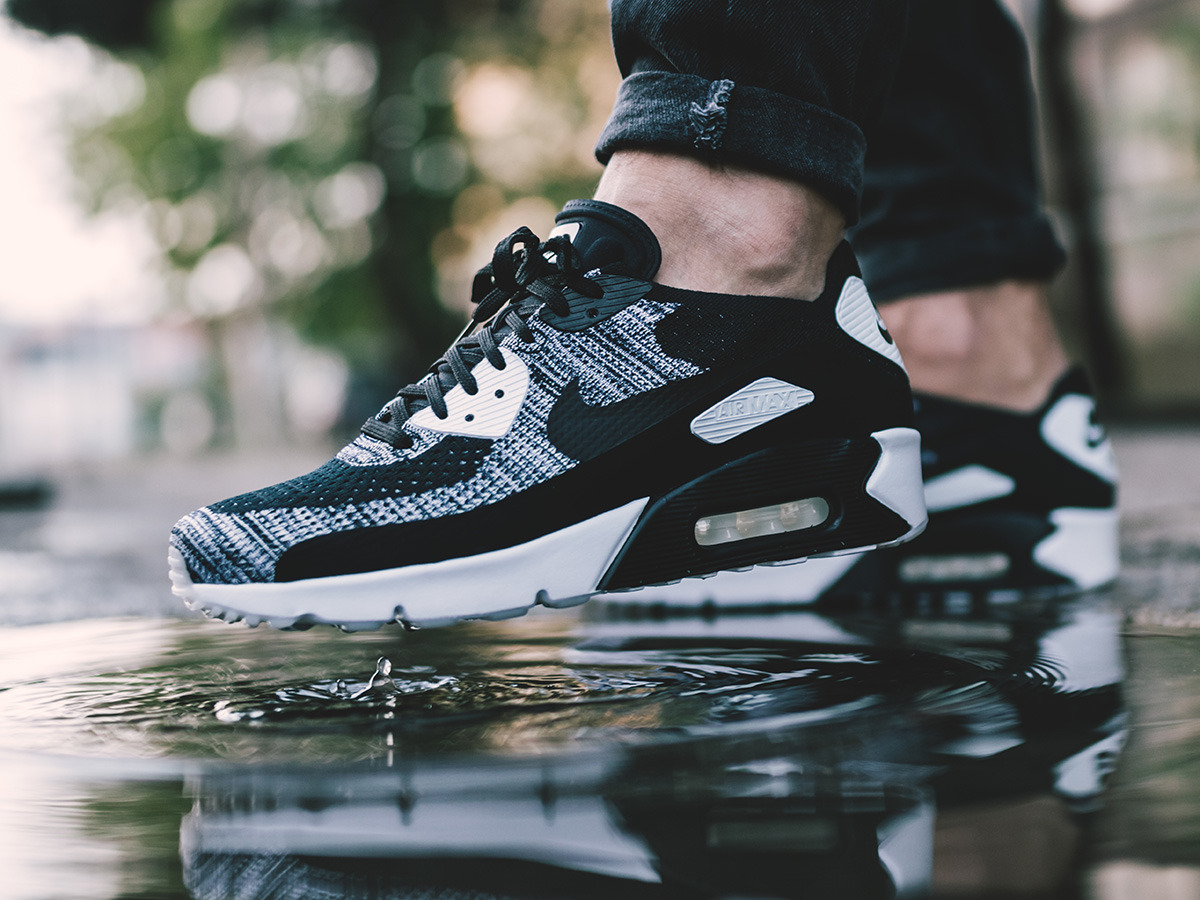 buy popular 1b966 b37b0 ... Homme chaussures sneakers Nike Air Max 90 Ultra 2.0 Flyknit 875943 001  ...