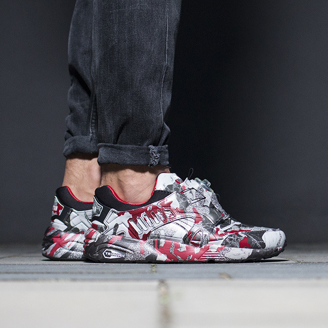 ... Homme chaussures sneakers Puma Disc Blaze Camo x Trapstar 361647 01 ...