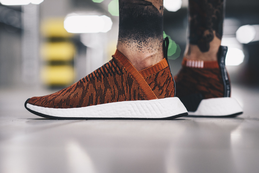 Homme chaussures sneakers adidas Originals NMD_CS2 Primeknit Red Glitch BY9406