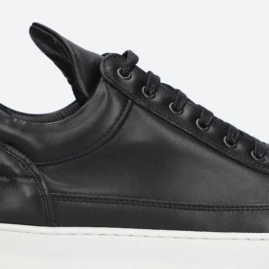 Baskets femme Filling Pieces Low Top Ripple Lane Nappa Black 25121721861PFH