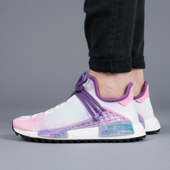 "Baskets homme adidas Originals NMD Holi ""Pink Glow"" AC7362 x Pharrell Williams Human Race"