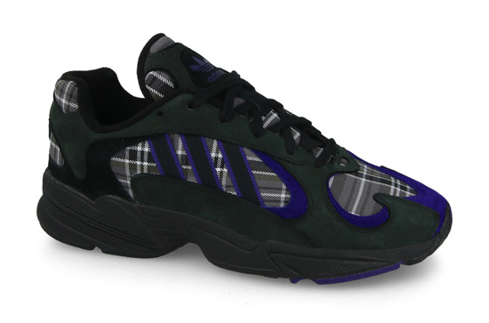 "Baskets homme adidas Originals Yung-1 ""Plaid Pack"" EF3965"