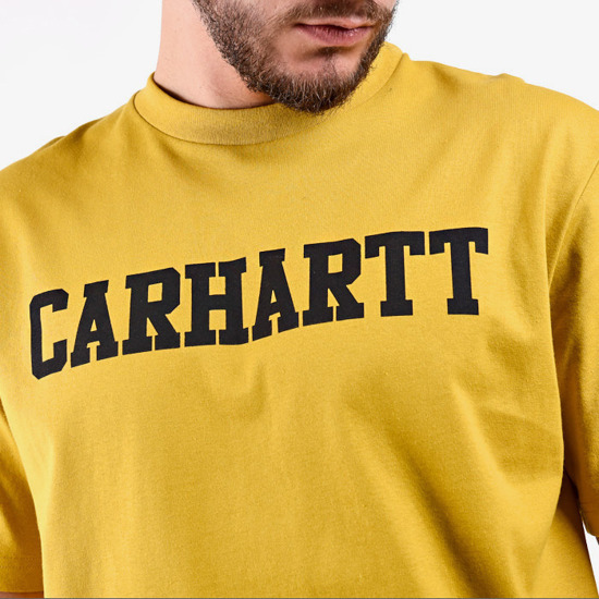 Carhartt College T-Shirt I024772 COLZA/BLACK