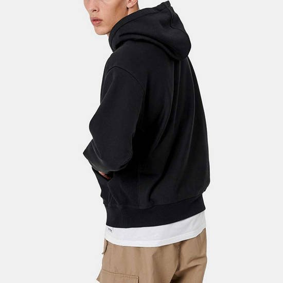 Carhartt WIP Hooded American Script Sweat I028279 BLACK