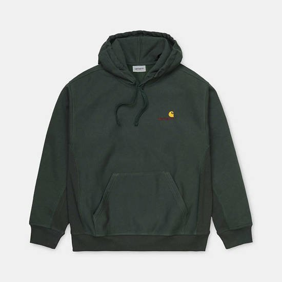 Carhartt WIP Hooded American Script Sweat I028279 DARK TEAL
