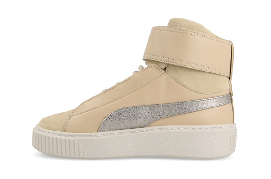 Chaussures femme sneakers Puma Basket Platform Mid Up 364952 01