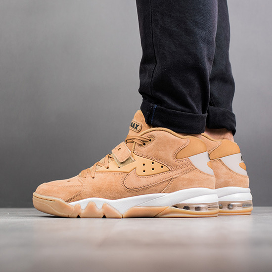 "Chaussures homme sneakers Nike Air Force Max Premium ""Flax Pack"" 315065 200"