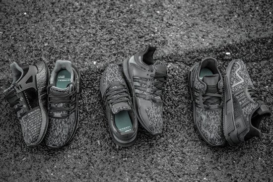 "Chaussures homme sneakers adidas Originals Equipment Eqt Cushion Adv ""Triple Black"" BY9507"