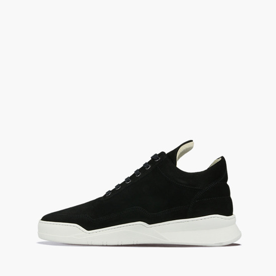 Filling Pieces Low Top Ghost Suede Black 25222791861MSB