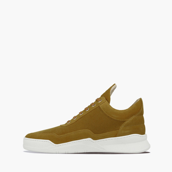 Filling Pieces Low Top Ghost Suede Mustard 25222791960MSB