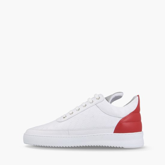 Filling Pieces Low Top Ripple Hades White/Red 25127381904PMZ