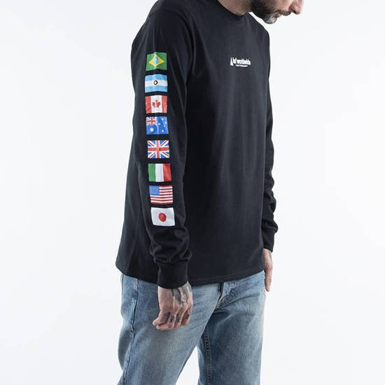 HUF Flag Union Longsleeve T-shirt TS01168 BLACK