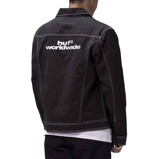 HUF Lincoln Trucker Jacket JK00240 BLACK