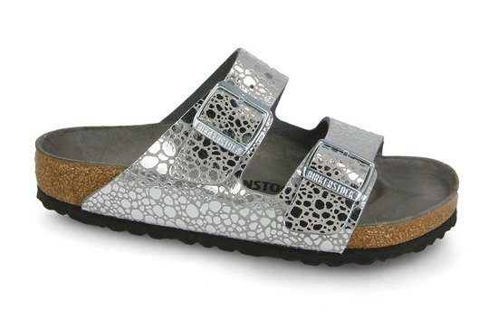 Tongs Birkenstock Arizona Metallic Silver 1011912