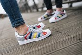 "Chaussures femme adidas Superstar x White Mountaineering ""Grey Multi"" AQ0352"