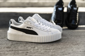 "Femme chaussures sneakers Puma Creeper x Fenty by Rihanna ""White & Black"" 364462 01"